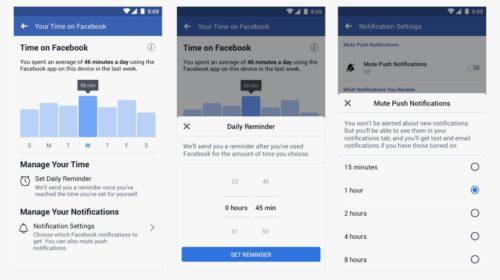 Hlídač času na Facebooku a Instagramu