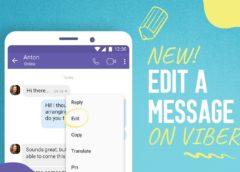 Viber edit message