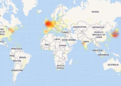 Twitter outage map