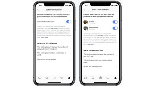 Instagram přidává novou možnost, která umožňuje odhlásit se z používání dat třetích stran pro cílení reklam